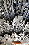 Detail of Art Deco Wiltern Theater in Los Angeles, CA