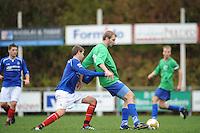 VOETBAL: SURHUISTERVEEN: Sportpark 't Ketting, 20-10-2012, vv 't Fean '58 - SC Veenwouden, Eindstand 2-1, Atze van der Veen (#4 | 't Fean '58), ? (#14 | Veenwouden), ©foto Martin de Jong