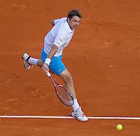 Stanlinas WAWRINKA (SUI) against Novak DJOKOVIC (SRB) in the third round. Novak Djokovic beat Stanlinas Wawrinka 6-4 6-4..International Tennis - 2010 ATP World Tour - Masters 1000 - Monte-Carlo Rolex Masters - Monte-Carlo Country Club - Alpes-Maritimes - France..© AMN Images, Barry House, 20-22 Worple Road, London, SW19 4DH.Tel -  + 44 20 8947 0100.Fax - + 44 20 8947 0117