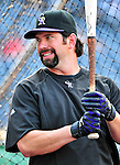 9 July 2011: Colorado Rockies first baseman Todd Helton awaits his turn in the batting cage prior to a game against the Washington Nationals at Nationals Park in Washington, District of Columbia. The Rockies edged out the Nationals 2-1 to win the second game of their 3-game series. Mandatory Credit: Ed Wolfstein Photo