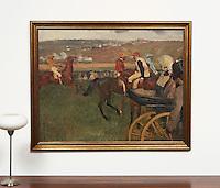 Degas: The Race Course, Digital Print,<br /> Framed Dimensions: 47&quot;H x 58&quot;W x 2&quot;D