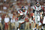 Ole Miss running back Jeff Scott (3) scores vs. Alabama at Bryant-Denny Stadium in Tuscaloosa, Ala. on Saturday, September 29, 2012.