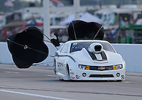 Apr. 26, 2013; Baytown, TX, USA: NHRA pro stock driver Shane Gray during qualifying for the Spring Nationals at Royal Purple Raceway. Mandatory Credit: Mark J. Rebilas-