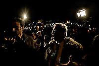 Roma 21 Novembre 2014<br /> Manifestazione contro prostituzione e degrado all' EUR, organizzata dal comitato di quartiere &quot;Ripartiamo dall'Eur&quot; e dall'associazione commercianti della zona. La manifestazione &egrave; stata indetta per chiedere un intervento dalle istituzioni sulla prostituzione e il degrado nel quartiere. Mario Borghezio eurodeputato della Lega Nord, intervistato dai giornalisti.<br /> Rome November 21, 2014<br /> Demonstration against prostitution and degradation in the EUR district, organized by the neighborhood committee, and by the traders in the area The demonstration was called to request assistance from the institutions against prostitution and degradation in the neighborhood. Mario Borghezio of the Northern League MEP, interviewed by journalists.