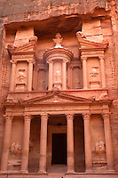 The temple or treasury in Petra, Jordan.