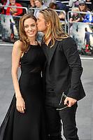 "Angelina Jolie & Brad Pitt attend the '"" World War Z' World "" Premiere - London"