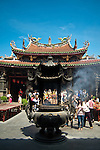 Crowds at Queen of Heaven Temple, Tianhou Temple, Lugang, Changhua County, Taiwan