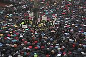 Warsaw, 03.10.2016 Poland <br /> People take part in a demonstration against changes in abortion law in Old City in Warsaw.<br /> Photo: Maciej Jeziorek / Napo Images<br /> Warszawa, 03.10.2016<br /> Na Placu Zamkowym odbyla sie demonstracjca tz. Czarny Protest przeciwko zakazowi aborcji<br /> Fot. Maciej Jeziorek / Napo Images <br /> ###ZDJECIE MOZE BYC UZYTE W KONTEKSCIE NIEOBRAZAJACYM OSOB PRZEDSTAWIONYCH NA FOTOGRAFII###