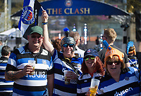A general view of supporters enjoying the atmosphere. The Clash, Aviva Premiership match, between Bath Rugby and Leicester Tigers on April 8, 2017 at Twickenham Stadium in London, England. Photo by: Patrick Khachfe / Onside Images