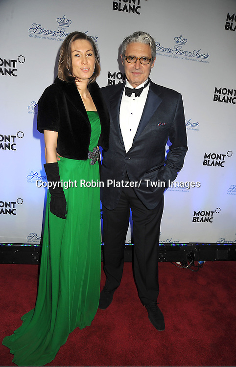 Michael Nouri and friend Kristina Kovalenko attends The Princess Grace Foundation Awards Gala on ..November 1, 2011 at Cipriani 42nd Street in New York City.