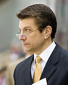 John Micheletto (Vermont - Associate Head Coach) - The visiting University of Vermont Catamounts tied the Boston University Terriers 3-3 in the opening game of their weekend series at Agganis Arena in Boston, Massachusetts, on Friday, February 25, 2011.