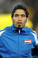 Mohammed Ali Kareem of Iraq. Iraq and New Zealand tied 0-0 during the FIFA Confederations Cup at Ellis Park Stadium in Johannesburg, South Africa on June 20, 2009..