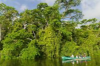 Jungle canal tour in Tortuguero, Costa Rica, Central America