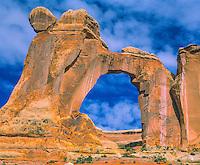 Angel Arch & Morning Clouds, Canyonlands National Park, Utah   Needles District     Salt Creek Canyon