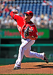 20 June 2010: Washington Nationals' pitcher Drew Storen on the mound against the Chicago White Sox at Nationals Park in Washington, DC. The Nationals were swept by the White Sox falling 6-3 in the last game of their 3-game interleague series. Mandatory Credit: Ed Wolfstein Photo