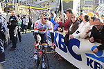 Andre Greipel (GER) Lotto-Soudal team heads to the start line for the 101st edition of the Tour of Flanders 2017 running 261km from Antwerp to Oudenaarde, Flanders, Belgium. 26th March 2017.<br /> Picture: Eoin Clarke | Cyclefile<br /> <br /> <br /> All photos usage must carry mandatory copyright credit (&copy; Cyclefile | Eoin Clarke)