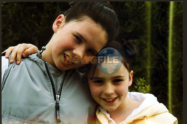 Sarah 12 Meave 10 McGuinness who survived the boating tradgy in clogherhead.Pic Fran Caffrey / Newsfile.No Byline