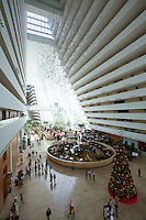 Singapore. Marina Bay Sands Hotel. the atrium lobby.