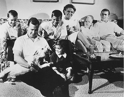 Houston, Texas - Undated file photo -- The Bush Family in Houston, Texas, 1964, prior to George H.W. Bush's Victorious Race for United States Congress. George W. Bush is at far right..Credit: White House via CNP