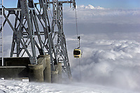 At an altitude of 3980m the Gulmarg Gondola is the highest cable car in the world. The kashmiri ski resort of Gulmarg is only 10km from the line of control that seperates India and Pakistan which means it is situated in a conflict zone. International skiers and boarders have come from across the world to sample what many say is some of the best snow in the world.
