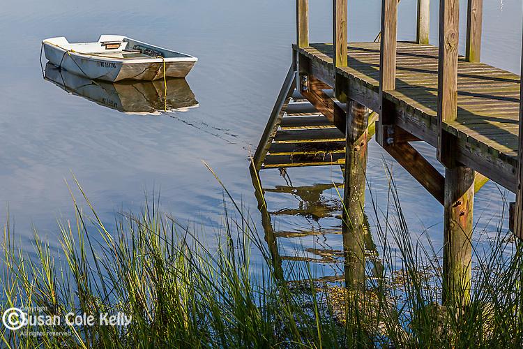A peaceful scene in West Falmouth, Cape Cod, Massachusetts, USA