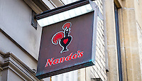 Nando's Restaurant Sign - May 2014.