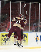 Corey Hale (Norwich - 11), Shane Gorman (Norwich - 16) - The Norwich University Cadets defeated the Babson College Beavers 1-0 on Thursday, January 9, 2014, at Fenway Park in Boston, Massachusetts.
