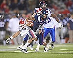 Ole Miss quarterback Randall Mackey (1) vs. Louisiana Tech in Oxford, Miss. on Saturday, November 12, 2011.
