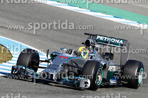 Motorsports: FIA Formula One World Championship 2014, Tests in Jerez de la Frontera, Lewis Hamilton (GBR, Mercedes AMG Petronas F1 Team) *** Local Caption *** © pixathlon