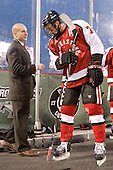 Mark Majewski (Northeastern - SID), Anthony Bitetto (Northeastern - 7) - The Boston College Eagles defeated the Northeastern University Huskies 2-1 on Saturday, January 14, 2012, at Fenway Park in Boston, Massachusetts.