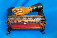 July, 1980, Aubagne, France, the French Foreign Legion Museum. The wooden hand replacing Captain's Danjou hand which he lost at war combat  in 1853. He died during the famous battle of Cameron, Mexico, May, 1863. He is the most celbrated officer of the French Foreign Legion.