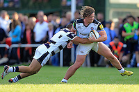Nick Auterac of Bath Rugby takes on the Yorkshire Carnegie defence. Pre-season friendly match, between Yorkshire Carnegie and Bath Rugby on August 13, 2016 at Ilkley RFC in Ilkley, England. Photo by: Ian Smith / Onside Images