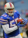 9 December 2007: Buffalo Bills linebacker Leon Joe warms up prior a game against the Miami Dolphins at Ralph Wilson Stadium in Orchard Park, NY. The Bills defeated the Dolphins 38-17. ..Mandatory Photo Credit: Ed Wolfstein Photo