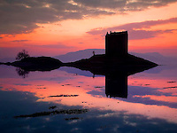Sunset over Castle Stalker, Appin, Argyll