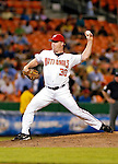 12 June 2006: Mike Stanton, pitcher for the Washington Nationals, winds up on the mound against the Colorado Rockies at RFK Stadium, in Washington, DC. The Nationals fell to the Rockies 4-3 in the first game of the four game series...Mandatory Photo Credit: Ed Wolfstein Photo..