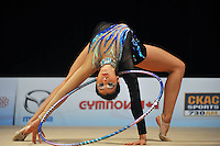 Ana Milagros Carrasco of Argentina performs with hoop during All Around at World Cup Montreal on January 29, 2011.  (Photo by Tom Theobald).