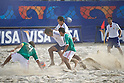 Two team groups, SEPTEMBER 02, 2011 - Beach Soccer : FIFA Beach Soccer World Cup Ravenna-Italy 2011 Group D match between Japan 2-3 Mexico at Stadio del Mare, Marina di Ravenna, Italy, (Photo by Enrico Calderoni/AFLO SPORT) [0391]