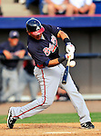 4 March 2011: Atlanta Braves infielder Diory Hernandez in action during a Spring Training game against the Washington Nationals at Space Coast Stadium in Viera, Florida. The Braves defeated the Nationals 6-4 in Grapefruit League action. Mandatory Credit: Ed Wolfstein Photo