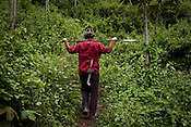 The villagers from Mabauram village are seen patrolling and providing security to other villagers while they go to collect vegetables and other personal items from their burnt village. Ethnic clashes are regularly taking place between Zeme Nagas and the Dimasa tribe in North Cachar Hills. Suspected Dimasa group killed 2 youths (aged 16 and 14) and burnt 21 houses out of 25 in village Mabauram in the outskirts of Haflong, Assam, India.