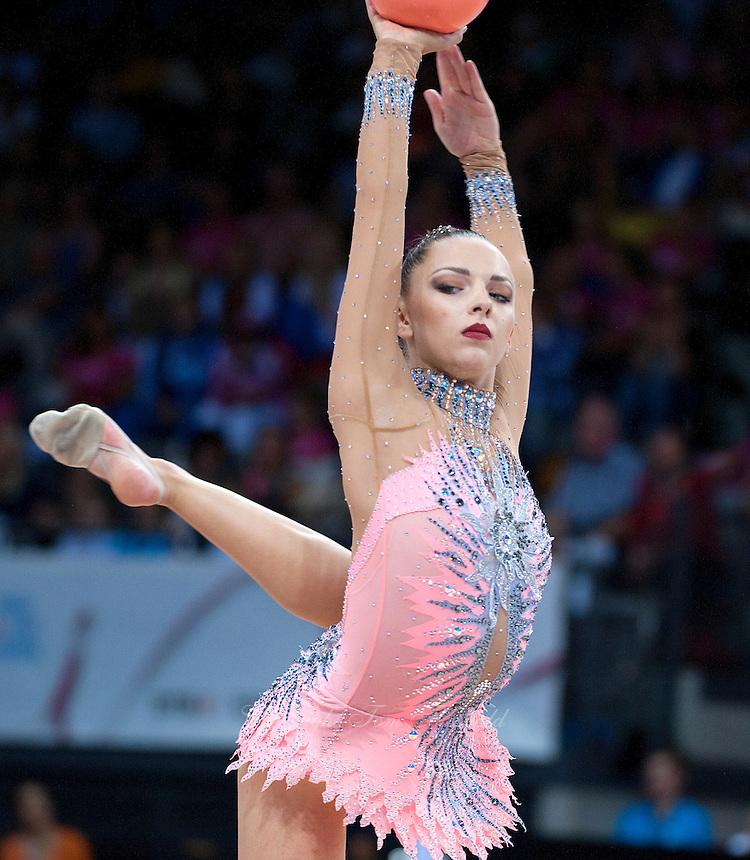 September 11, 2015 - Stuttgart, Germany - MELITINA STANIOUTA of Belarus performs during AA final at 2015 World Championships.