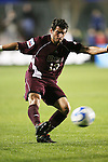 14 December 2007: Massachusetts' Greg Cirillo. The Ohio State University Buckeyes defeated the University of Massachusetts Minutemen 1-0 at SAS Stadium in Cary, North Carolina in a NCAA Division I Mens College Cup semifinal game.