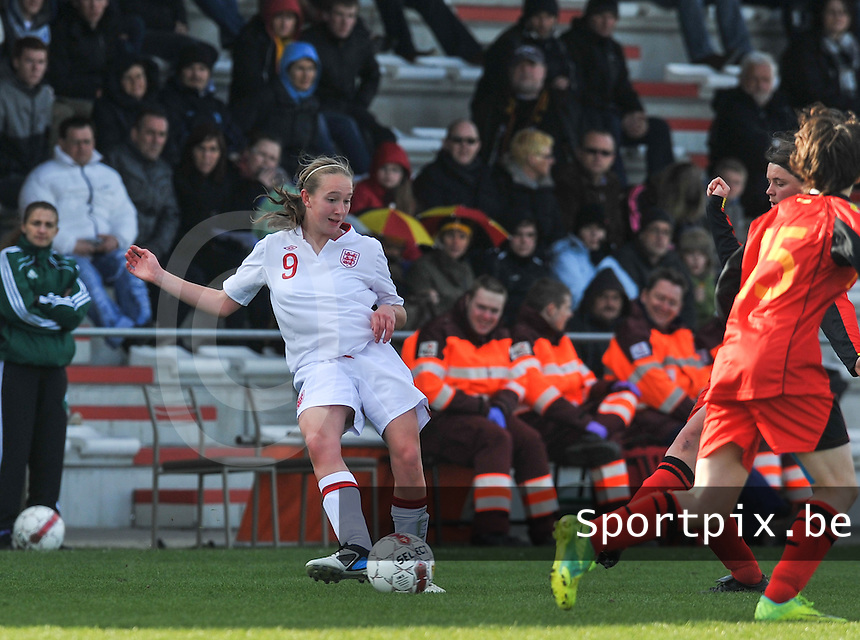 UEFA Women's Under 17 Championship - Second Qualifying round - group 1 : Belgium - England : .Lucy Whipp.foto DAVID CATRY / Vrouwenteam.be