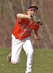 PLYMOUTH, CT-042017JS07- Watertown's Steven Phillips  (2)  makes a running catch on a fly ball during their game against Terryville Thursday at Terryville High School in Plymouth. <br /> Jim Shannon Republican-American