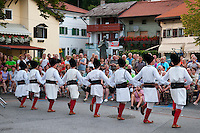 Kobarid, Julian Alps, Slovenia, July 2011. Dance and music on the main square of Kobarid during a cultural exchange. Slovenia boasts a very spectacular carstic landscape with high limestone rock formations oozing with waterfalls, and fast flowing cristal clear waters that run through the Soca from the Triglav National Park to the Adriatic Sea. Photo by Frits Meyst/Adventure4ever.com