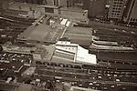 View of Shinagawa station from the 38th floor of the Shinagawa Prince Hotel