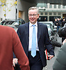 Andrew Marr Show arrivals &amp; departures <br /> on 27th November 2016 <br /> at BBC TV, Broadcasting House, London, Great Britain <br /> <br /> Michael Gove MP<br /> looking a little embarrassed as he tries to find his correct taxi -<br /> <br /> Photograph by Elliott Franks <br /> Image licensed to Elliott Franks Photography Services