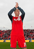 22 October 2011: Toronto FC forward Danny Koevermans #14 acknowledges the fans at the end of their last regular season home game between the New England Revolution and Toronto FC at BMO Field in Toronto..The game ended in a 2-2 draw.