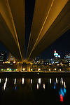 Under the Wabasha Avenue bridge in downtown St. Paul, MN.