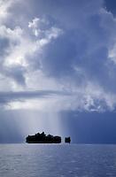 WEATHER,Rain storm in the pacific near Palau, Micronesia