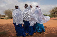 Kenya - Dadaab - Students at Tewfiq secondary school in Ifo camp.